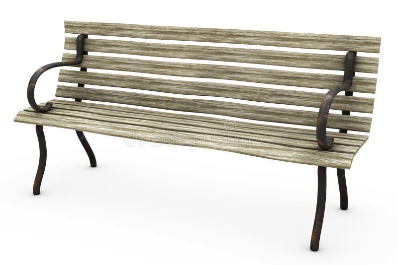 Bench on White stock illustration