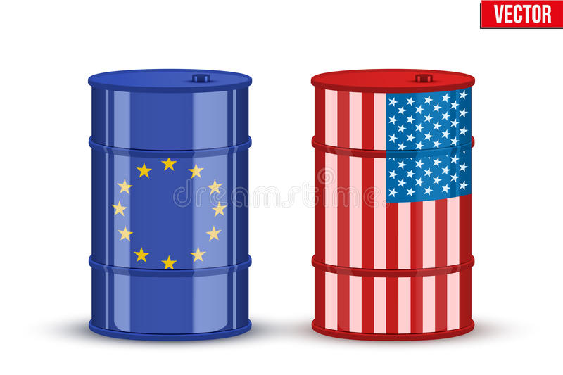 Benchmark crude oil BRENT and WTI royalty free illustration
