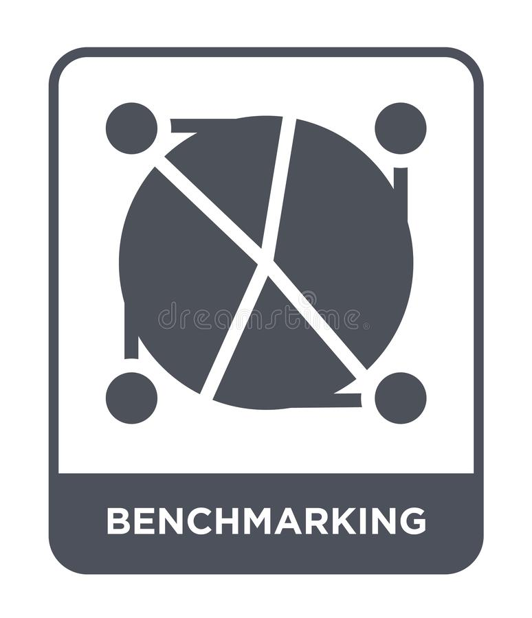 Benchmarking icon in trendy design style. benchmarking icon isolated on white background. benchmarking vector icon simple and. Modern flat symbol for web site royalty free illustration