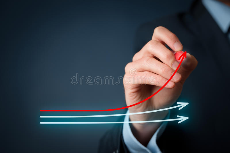 Benchmarking and market leader royalty free stock image