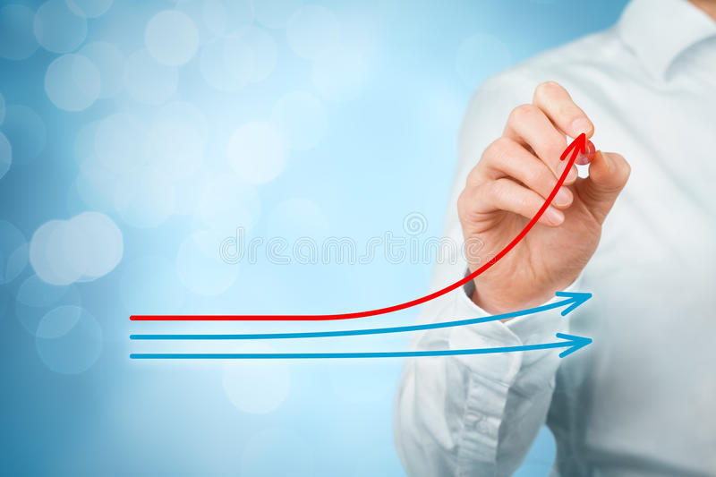 Benchmarking and market leader stock photos