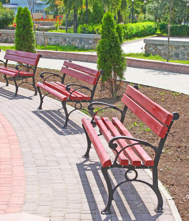 Download Benchs Are In A Public Garden Stock Images - Image: 21261534