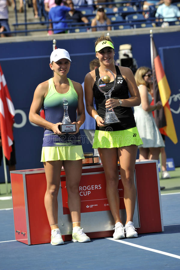 Bencic Belinda and Halep Simona (1) royalty free stock image