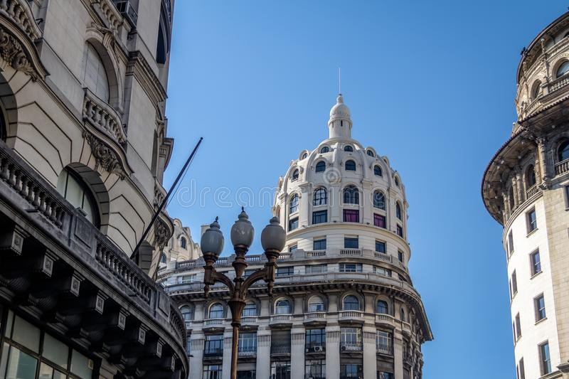 Bencich Building Dome in Buenos Aires, Argentina. Bencich Building Dome - Buenos Aires, Argentina royalty free stock photography
