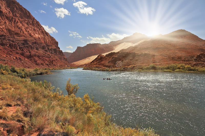 Download Bend of the Colorado River stock photo. Image of color - 26448632