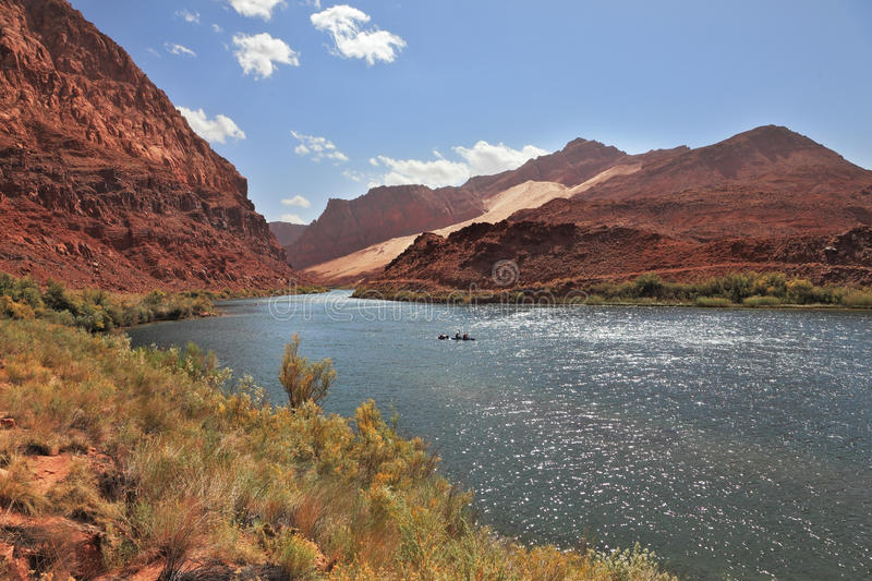 Download Bend of the Colorado River stock image. Image of blue - 30881689