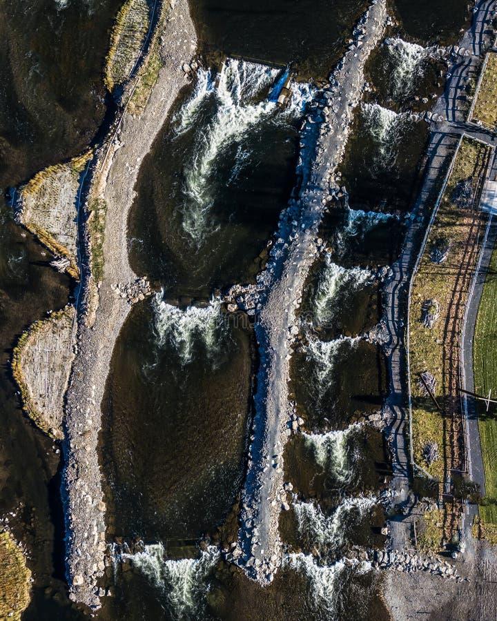 River Park Apartments South Bend Indiana: Aerial Topdown Shot Of Large Bangkok Shipping Port Stock