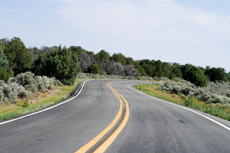 Download Bend In The Road, High Desert, New Mexico, USA Stock Image - Image of america, curve: 18915813