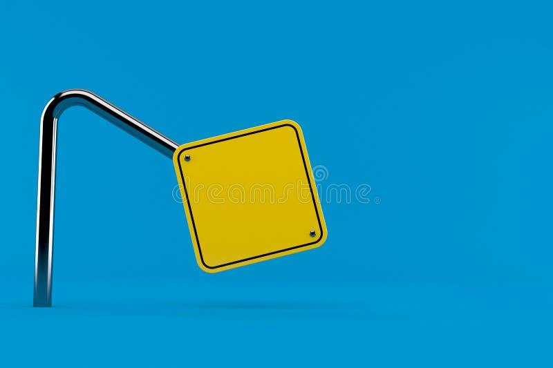 Bend road sign. Isolated on blue background. 3d illustration vector illustration