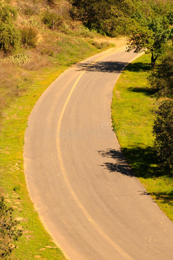 Download Bend in Rural Road stock photo. Image of trees, turn - 18193860