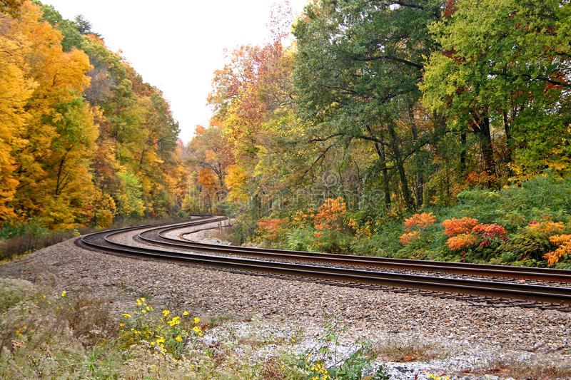 Download Bend in the Tracks stock photo. Image of seasons, autumn - 22375706