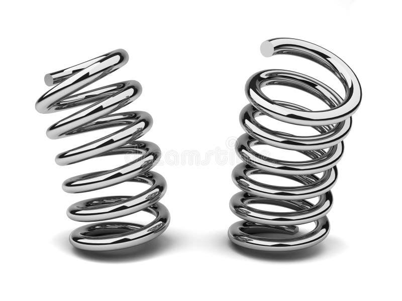 Download Bended spring stock illustration. Illustration of metallic - 17091460