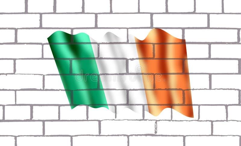 Bendera Irlanda de обстроганный en labrillos иллюстрация вектора