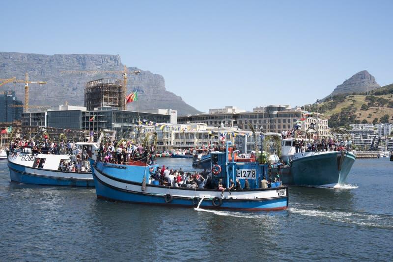 Bendición del festival anual Cape Town de la flota pesquera imagen de archivo libre de regalías