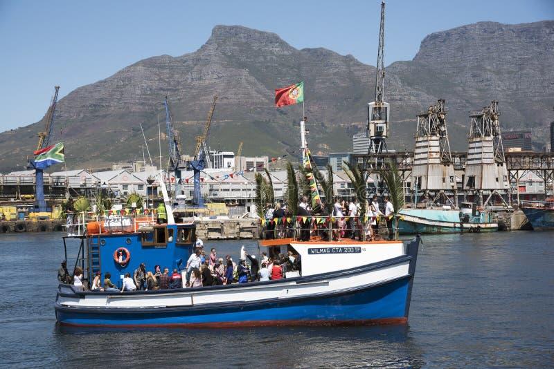 Bendición del festival anual Cape Town de la flota pesquera foto de archivo