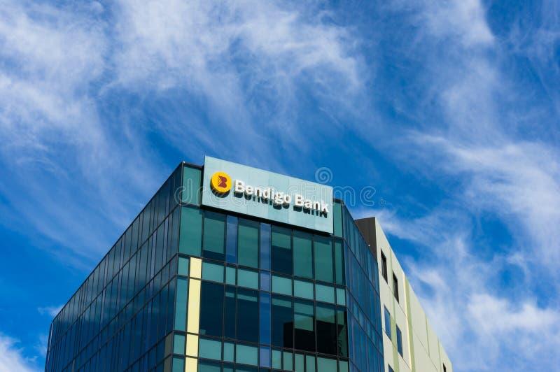 Bendigo-Bankfilialegebäude auf der 120 Hafen-Esplanade, Docklands stockbilder