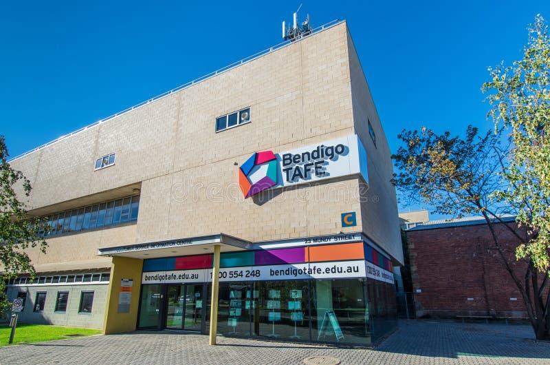 Bendigo institut av den yrkesmässiga högskolan för TAFE arkivbilder