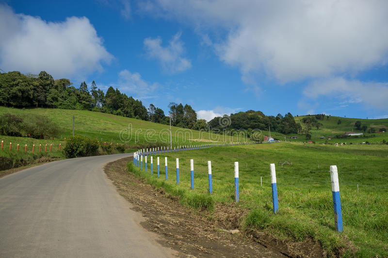 Costa Rica mountain road royalty free stock images