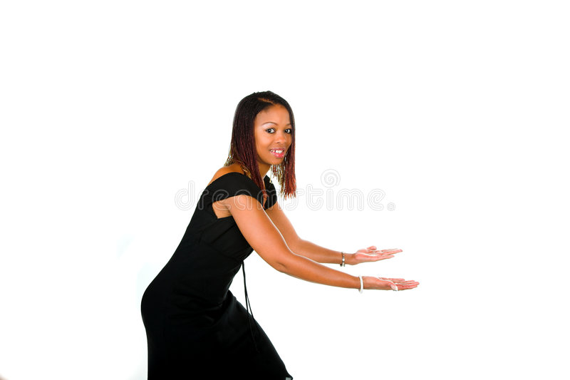 Bending to pick up stock images