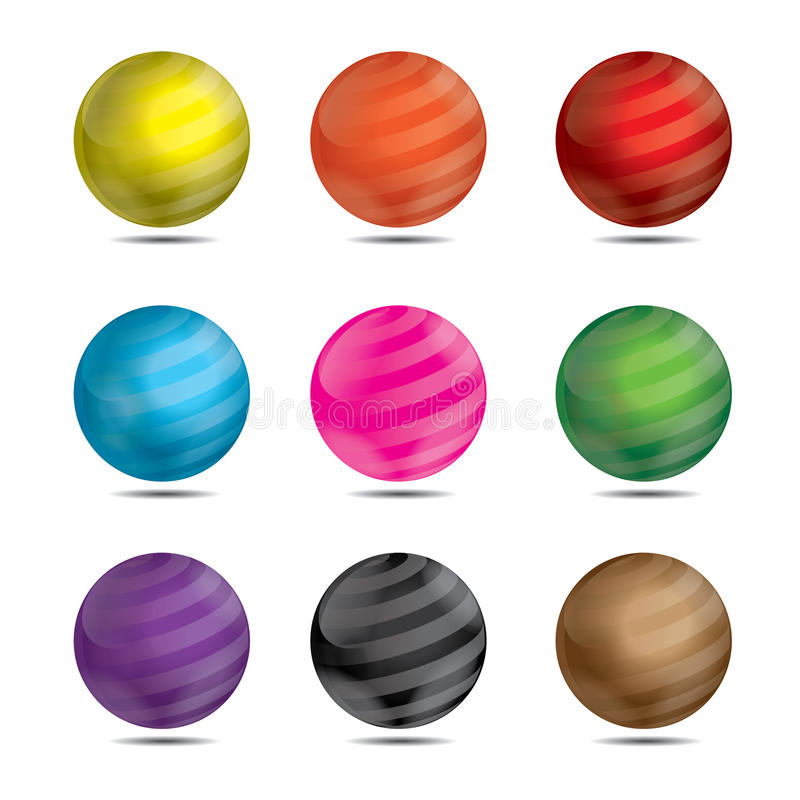 bene delle palle del gioco 3D fotografie stock