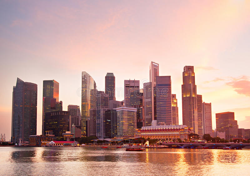 Bene immobile di Singapore fotografia stock libera da diritti