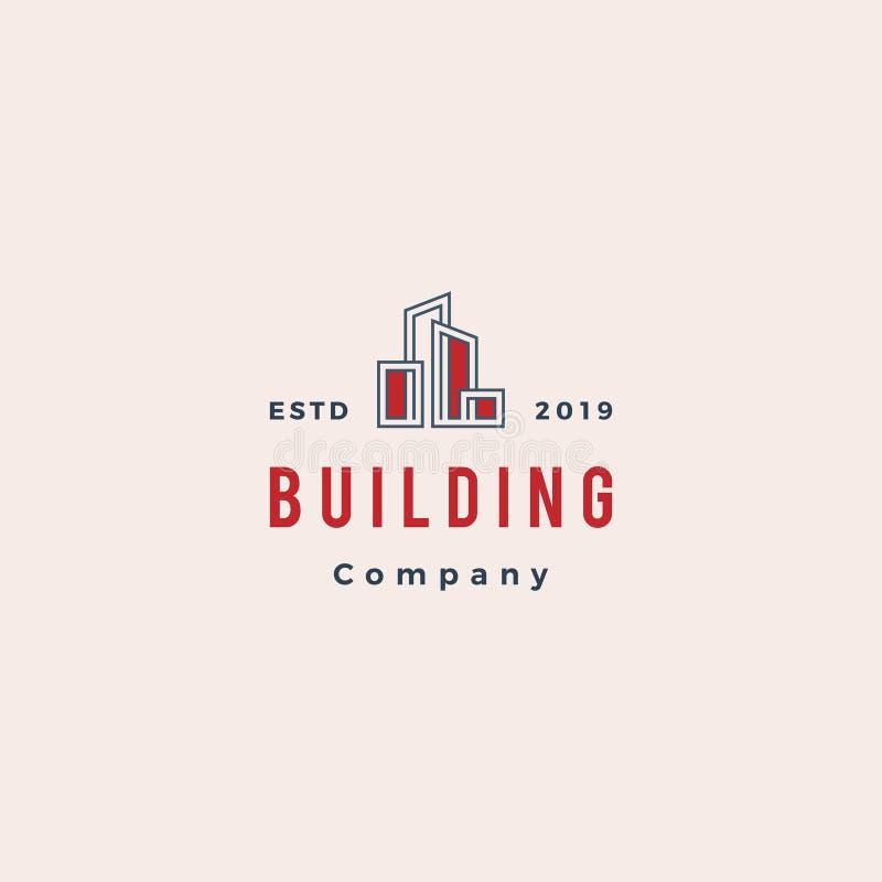 Bene immobile e vettore di costruzione di progettazione di logo illustrazione vettoriale