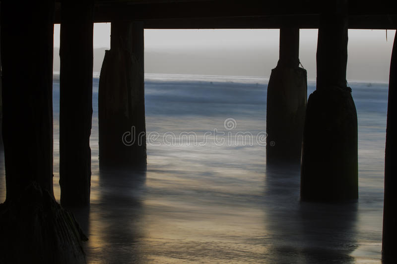Beneath Crystal Pier stock images