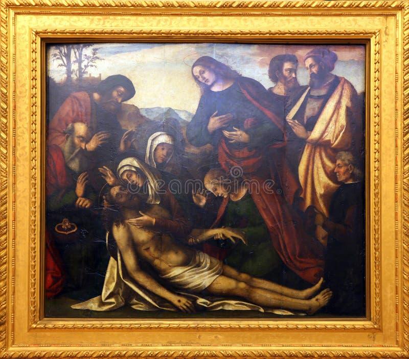 Benedetto Coda: Θρήνος Χριστού στοκ εικόνα