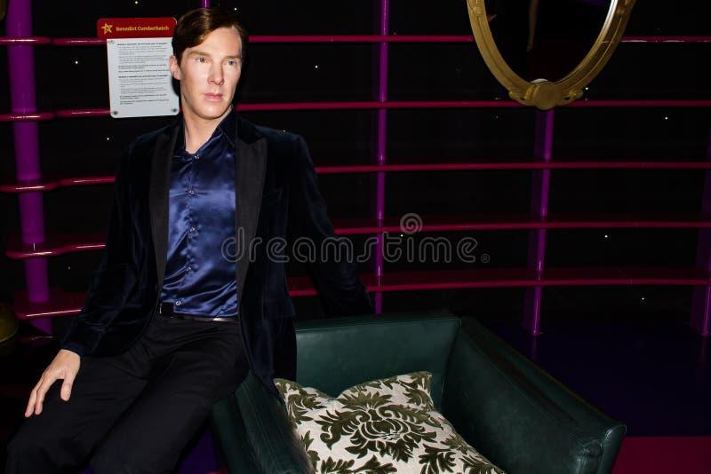 Benedict Cumberbatch wax statue, Madame Tussaud`s Museum Vienna stock photos
