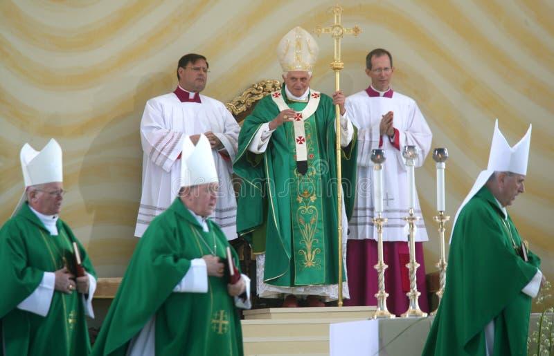 benedict firar mass xvi royaltyfri bild
