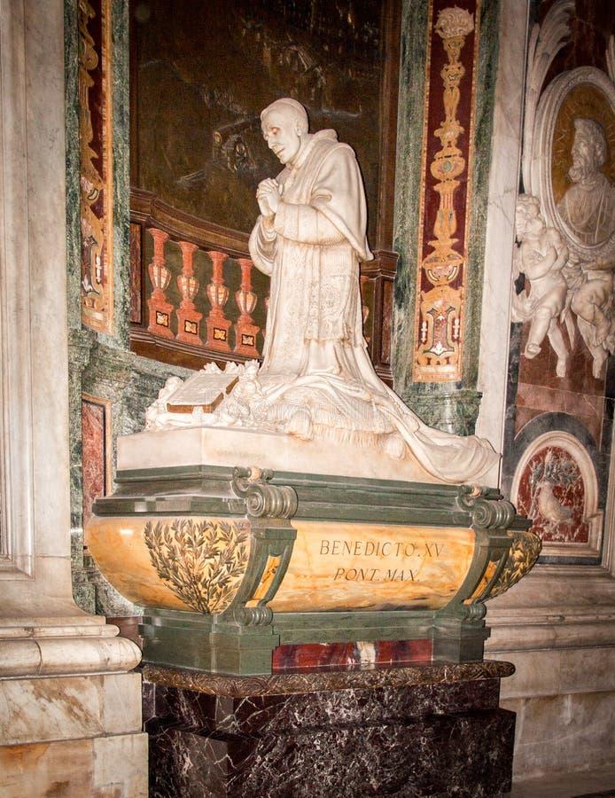 benedict pope royaltyfri bild
