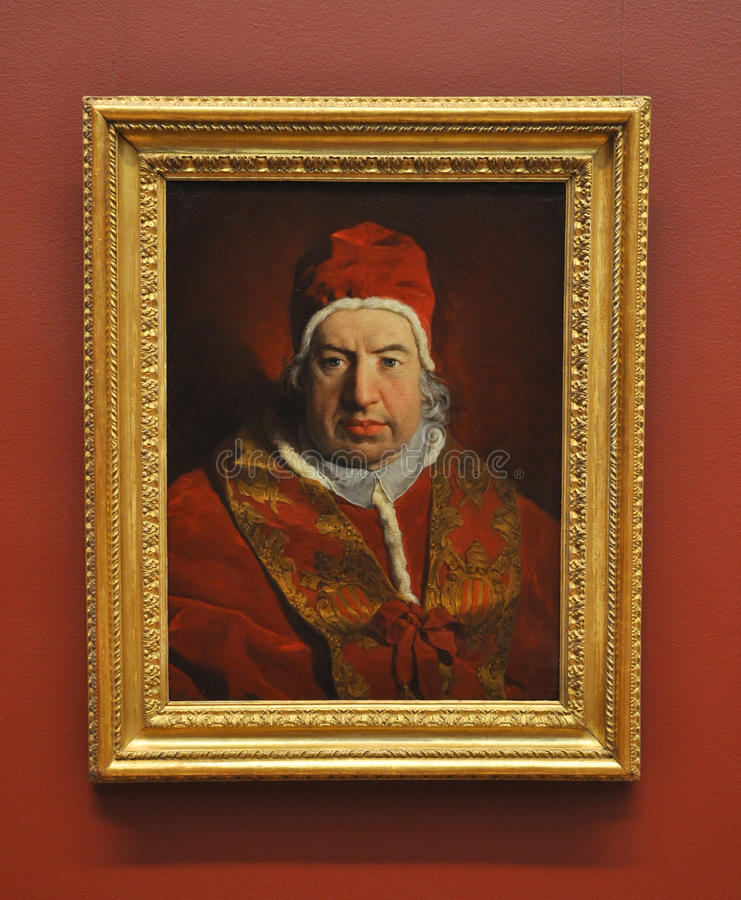 benedict pope portreta subleyras viv zdjęcie stock