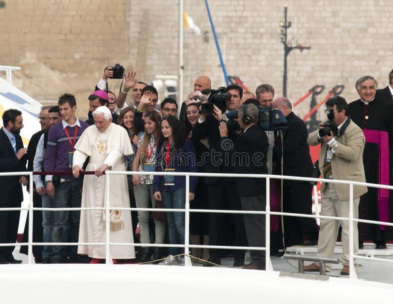 benedict pope xvi arkivfoto