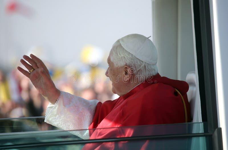 Benedict XVI binnen   royalty-vrije stock afbeelding