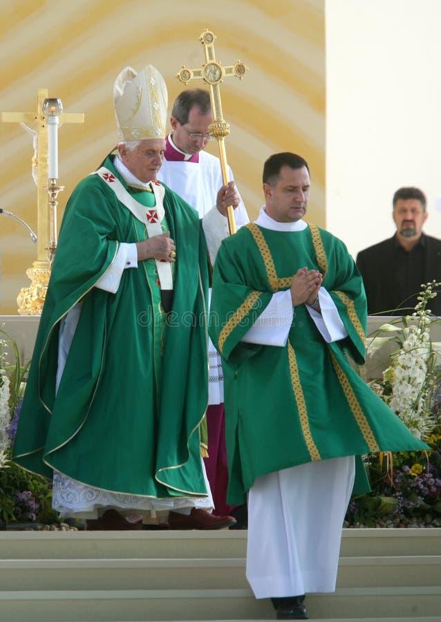 Benedict XVI binnen   royalty-vrije stock foto