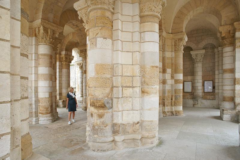 Benedictine αβαείο de Fleury στο ST Benoit sur Loire στοκ εικόνες