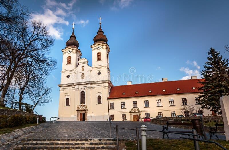 Abbey church in Hungary stock photos
