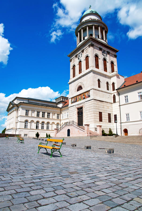 Benedictine abbey in Pannonhalma. Hungary stock photos