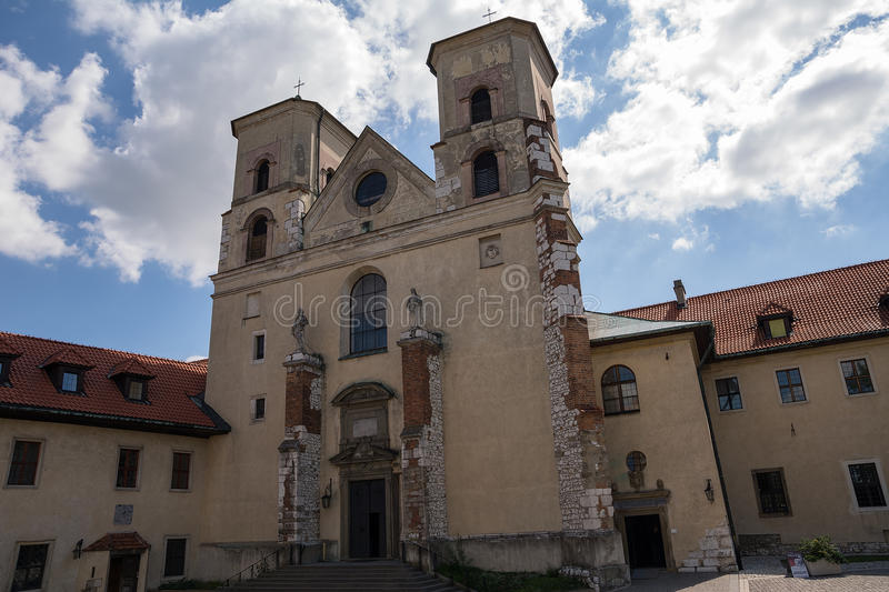 The Benedictine Abbey in Tyniec (Poland) stock images
