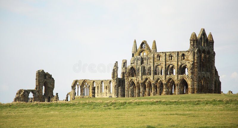 Benedictine Abbey at Whitby royalty free stock image