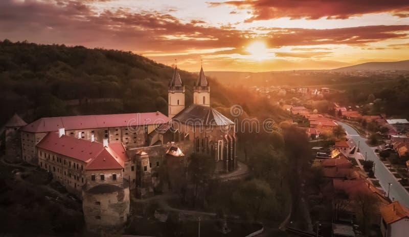 Benedictine-klooster Abbey Hronsky Benadik - Slowakije stock foto's