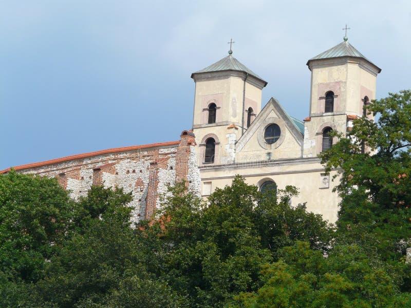 Benedictine kloster i Tyniec nära Krakow, Polen arkivbild