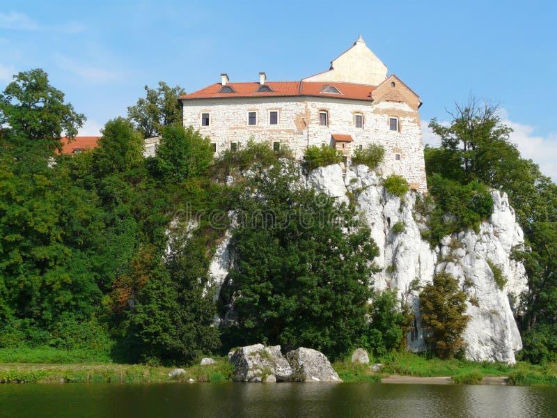 Benedictine kloster i Tyniec n?ra Krakow, Polen arkivbild