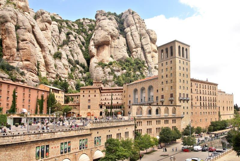 Benedictine monastery in Montserrat, Spain stock images