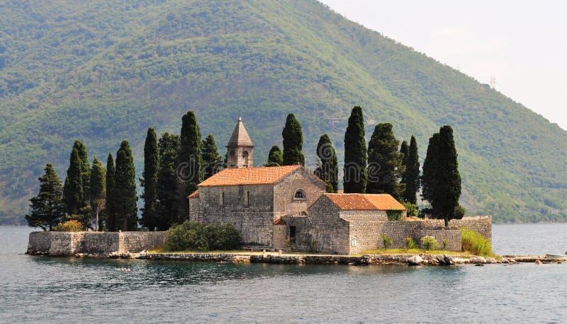 Benedictine monastery at Sveti Dorde island royalty free stock images