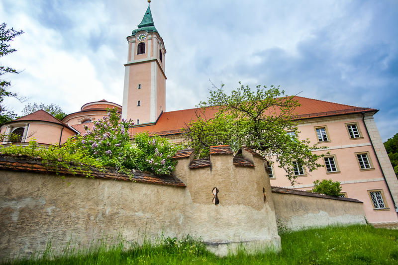 Benedictine Monastery World Heritage Sites in Weltenburg Lower B. Avaria Germany royalty free stock image