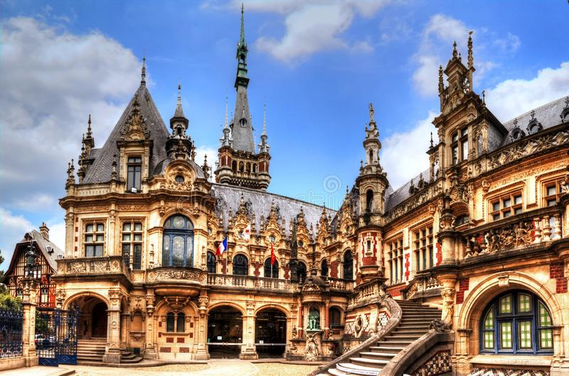 Benedictine palace, Fecamp, Normandie, France stock photo