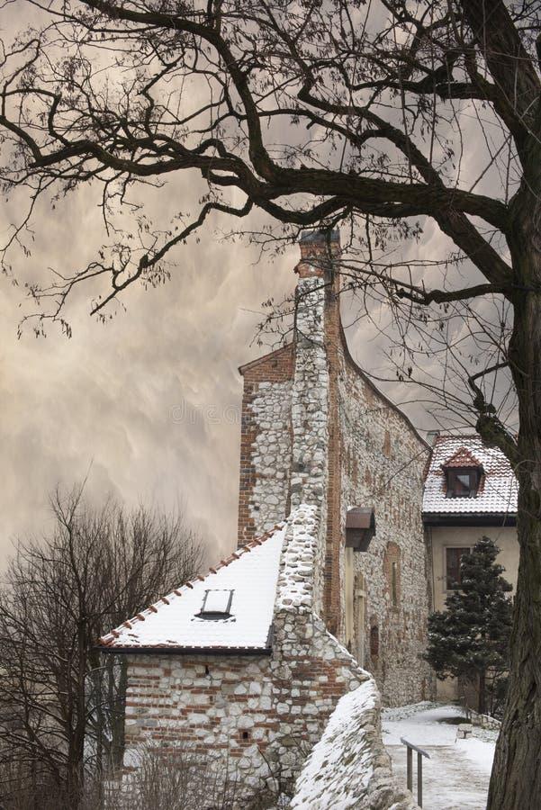 Benedictineabbotskloster i Tyniec förutom Krakow, Polen royaltyfria foton