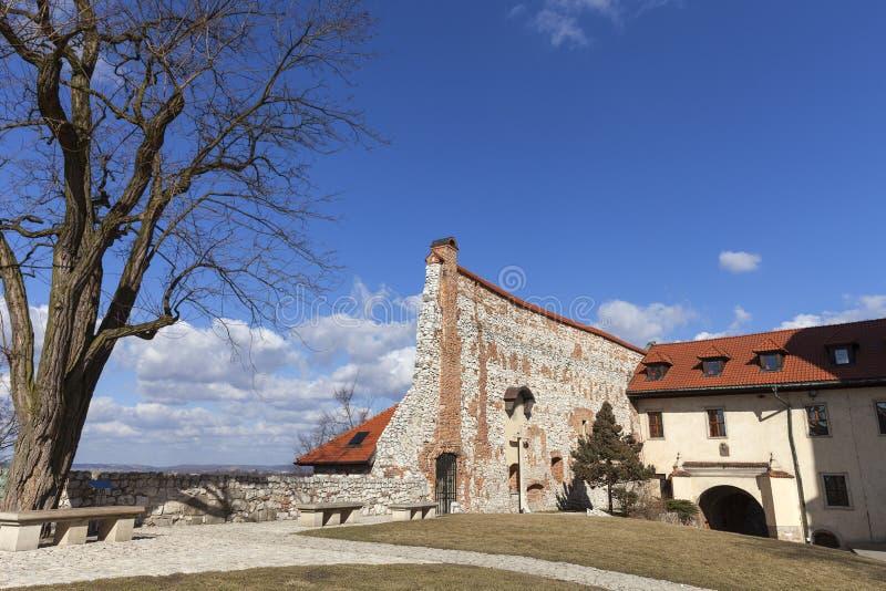 Benedictineabbotskloster i Tyniec nära Krakow, Polen royaltyfria bilder