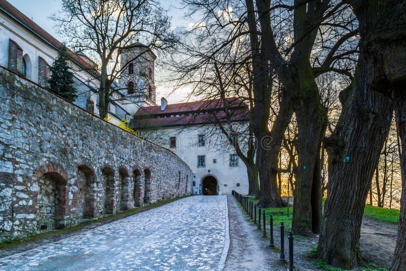Benedictineabbotskloster i Tyniec, Polen arkivfoton